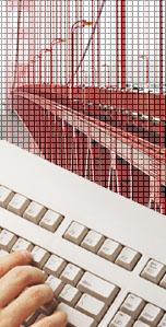 symbolisch: Brücke und Tastatur